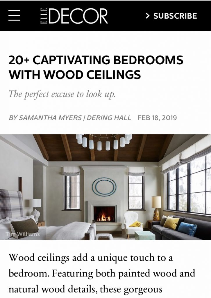 This image has an empty alt attribute; its file name is 20-Captivating-Bedrooms-with-Wood-Ceilings-Elle-Decor-2019-726x1024.jpg