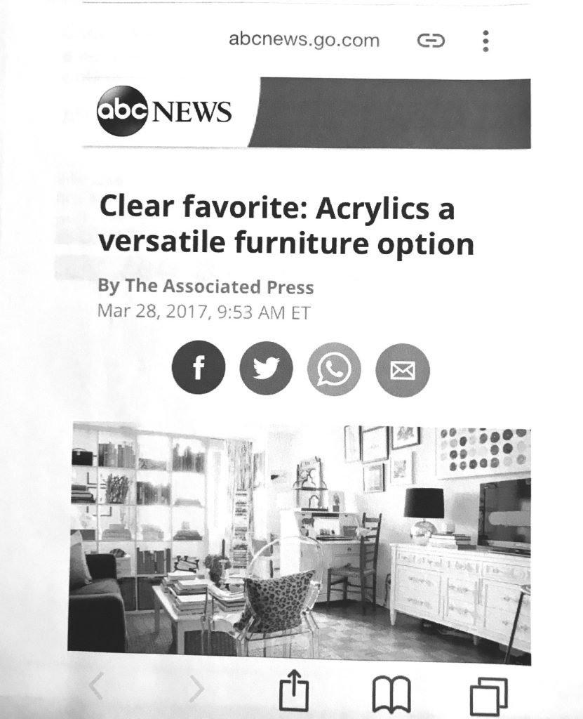 This image has an empty alt attribute; its file name is Clear-Favorite-Acrylics-a-Versatile-Furniture-Option-ABC-national-news-2017-831x1024.jpg